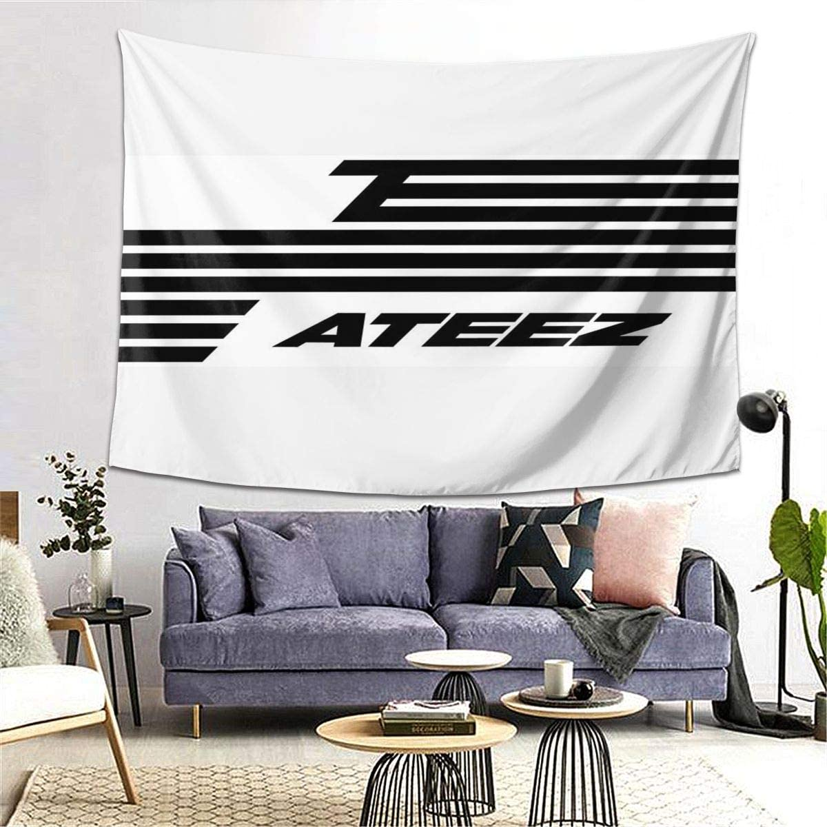 Pop Ateez Wall Hanging Tapestry Customized Wall Art Decorations For Bedroom