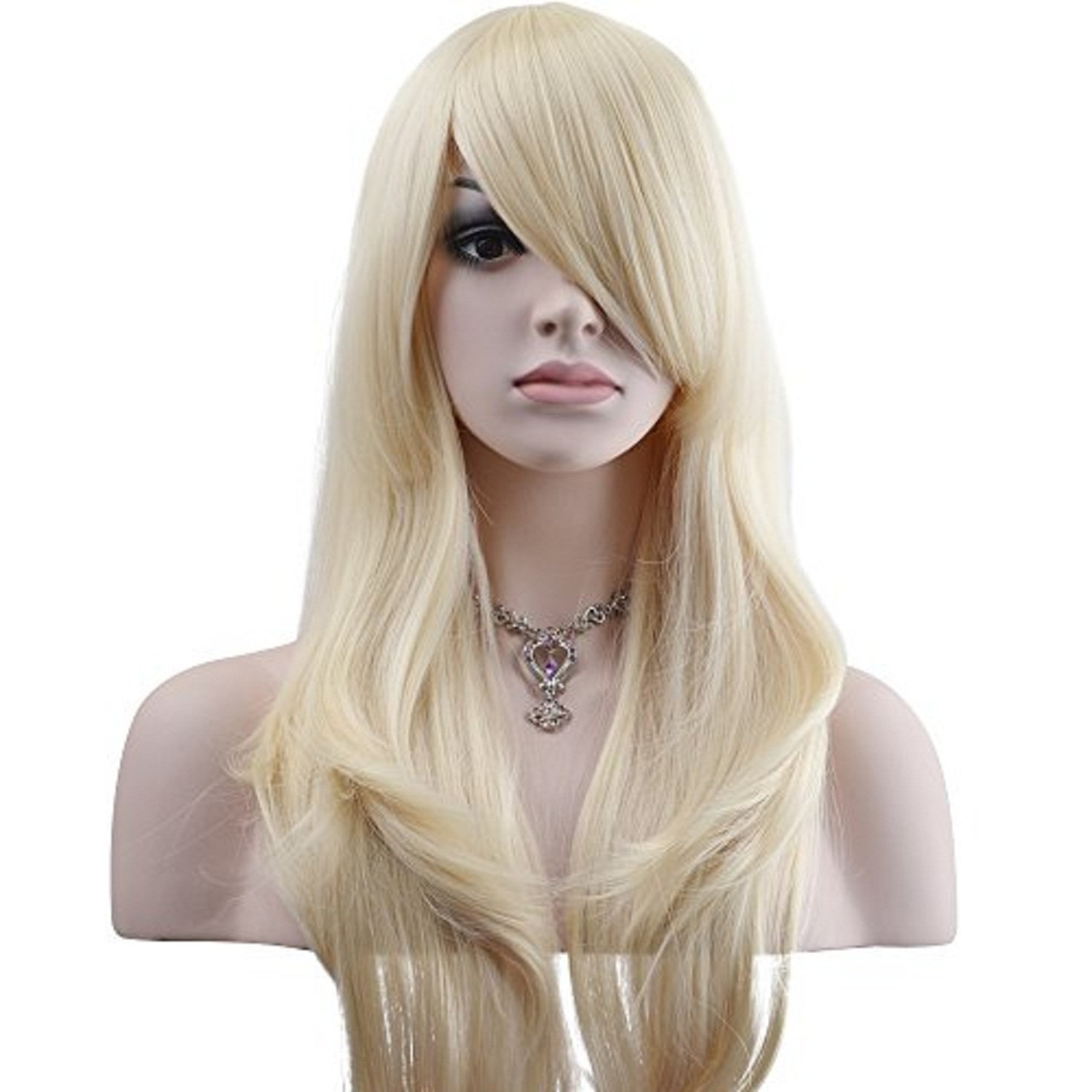 YOPO 28'' Wig Long Big Wavy Hair Women Cosplay Party Costume Wig(Light Blonde)