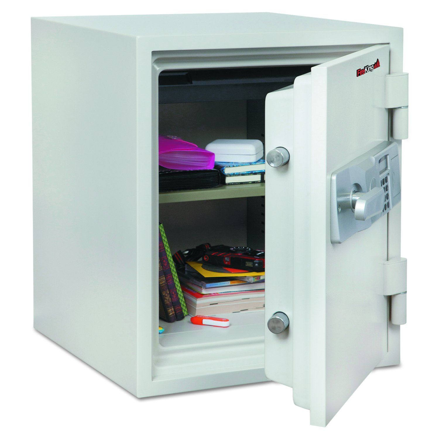 FireKing KF16122WHE Two Hour Fire and Water Safe, 1.48 ft3, 18-1/5 x 18-1/3 x 21-3/4, White