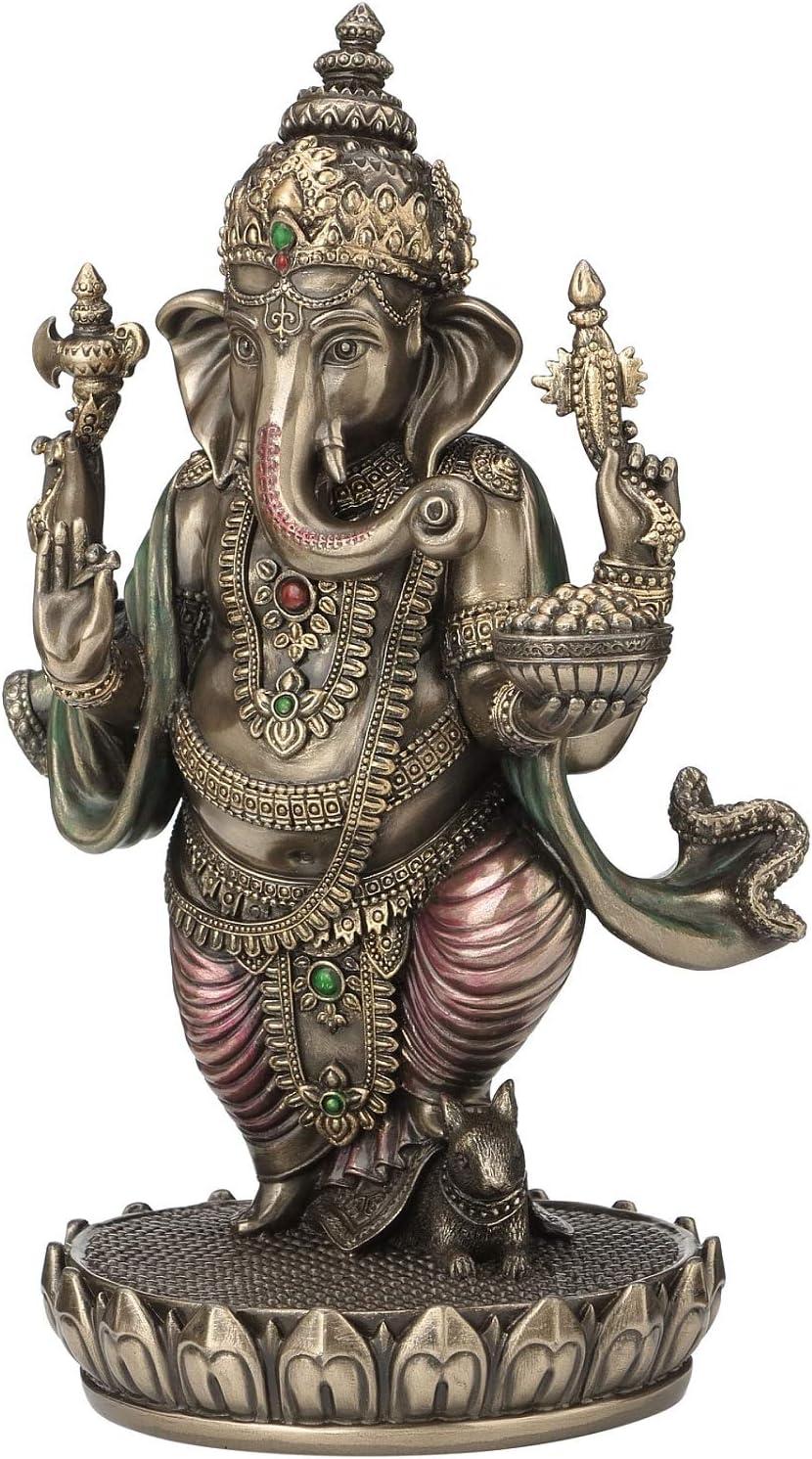 JFSM INC Standing Ganesh Hindu Elephant God of Success Statue Ganesha 7 1//2-inch