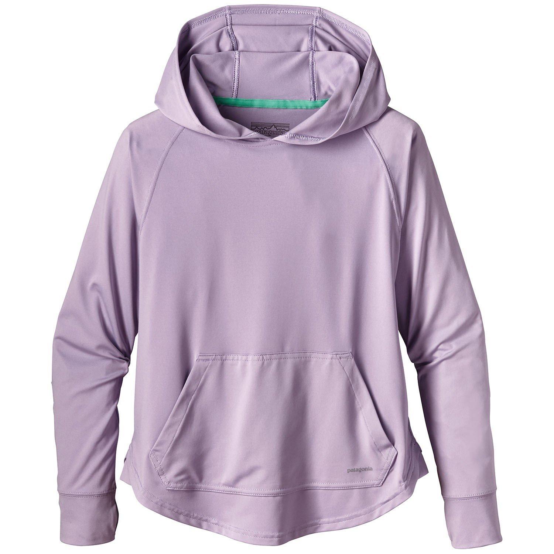 Patagonia Silkweight Girls' Capilene Sun Hoody Purple X-Large by Patagonia