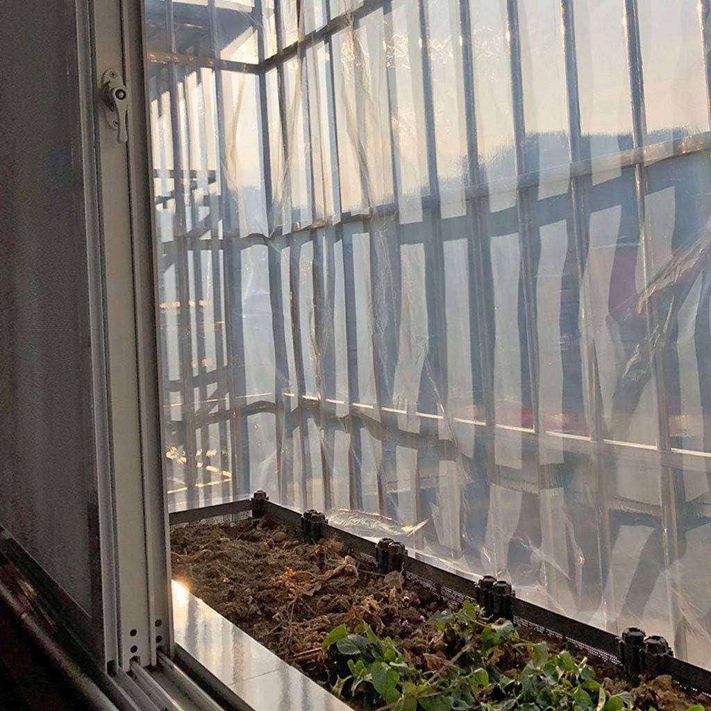 PE Solare Antipioggia Resistenza agli Strappi Asola in Metallo Pieghevole 190 g//m/² 14mil Telo di Protezione Antipioggia HLEF Telone Occhiellato Impermeabile