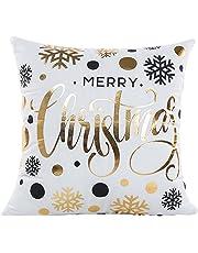 Navidad Fundas de Cojín (elehere clásico Oro & Negro Manta Decorativa Funda de almohada cuadrado 45,7x 45,7cm