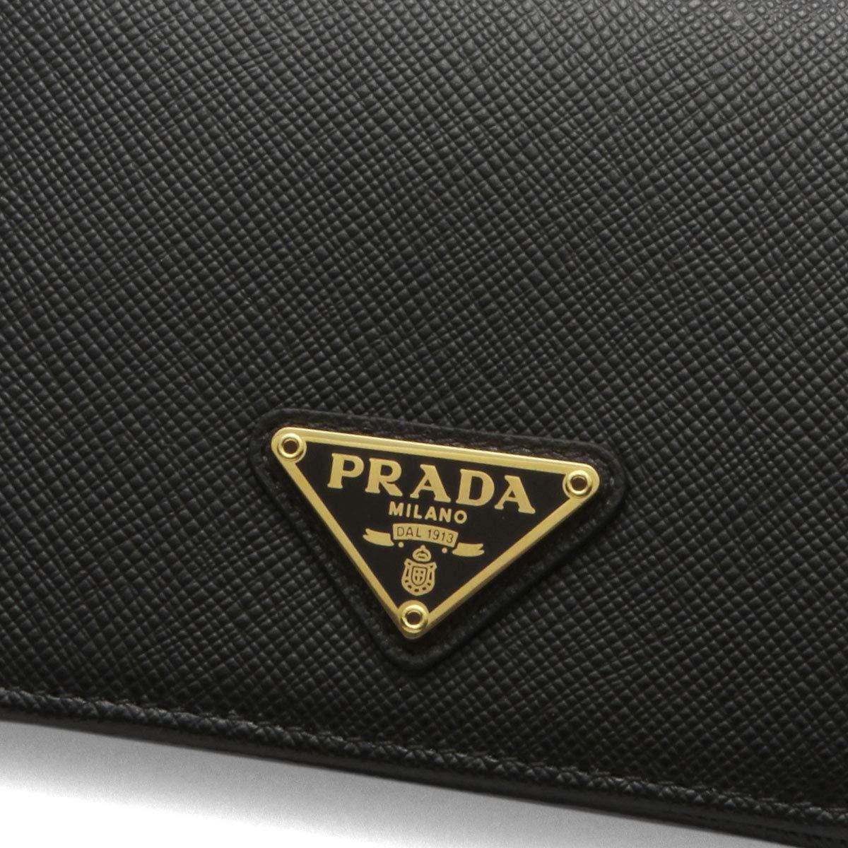 da51e0e203d4 三角ロゴプレート 財布 トライアングル プラダ レディース ブラック サフィアーノ 1MV204 QHH F0002 PRADA 二つ折り財布
