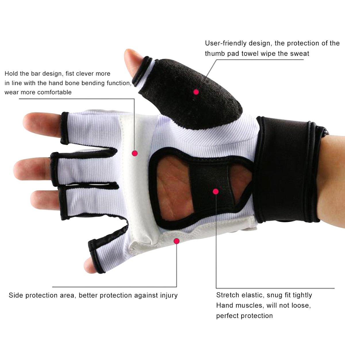 Evaliana Half Finger Taekwondo Training Boxing Gloves Thai Gym Sport Fitness
