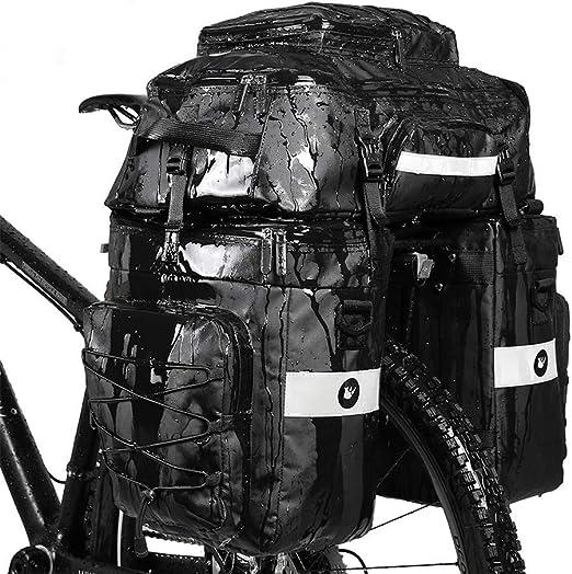 Rhinowalk - Bolsa para bicicleta (para portabicicletas, portaequipajes, 3 en 1): Amazon.es: Deportes y aire libre