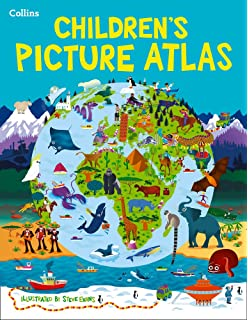 Collins childrens world map amazon collins maps steve collins childrens picture atlas gumiabroncs Gallery