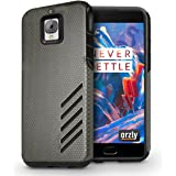 Orzly Dual SIM Version Grip Pro Twin Layer Case with Protection for OnePlus 3 (Black)