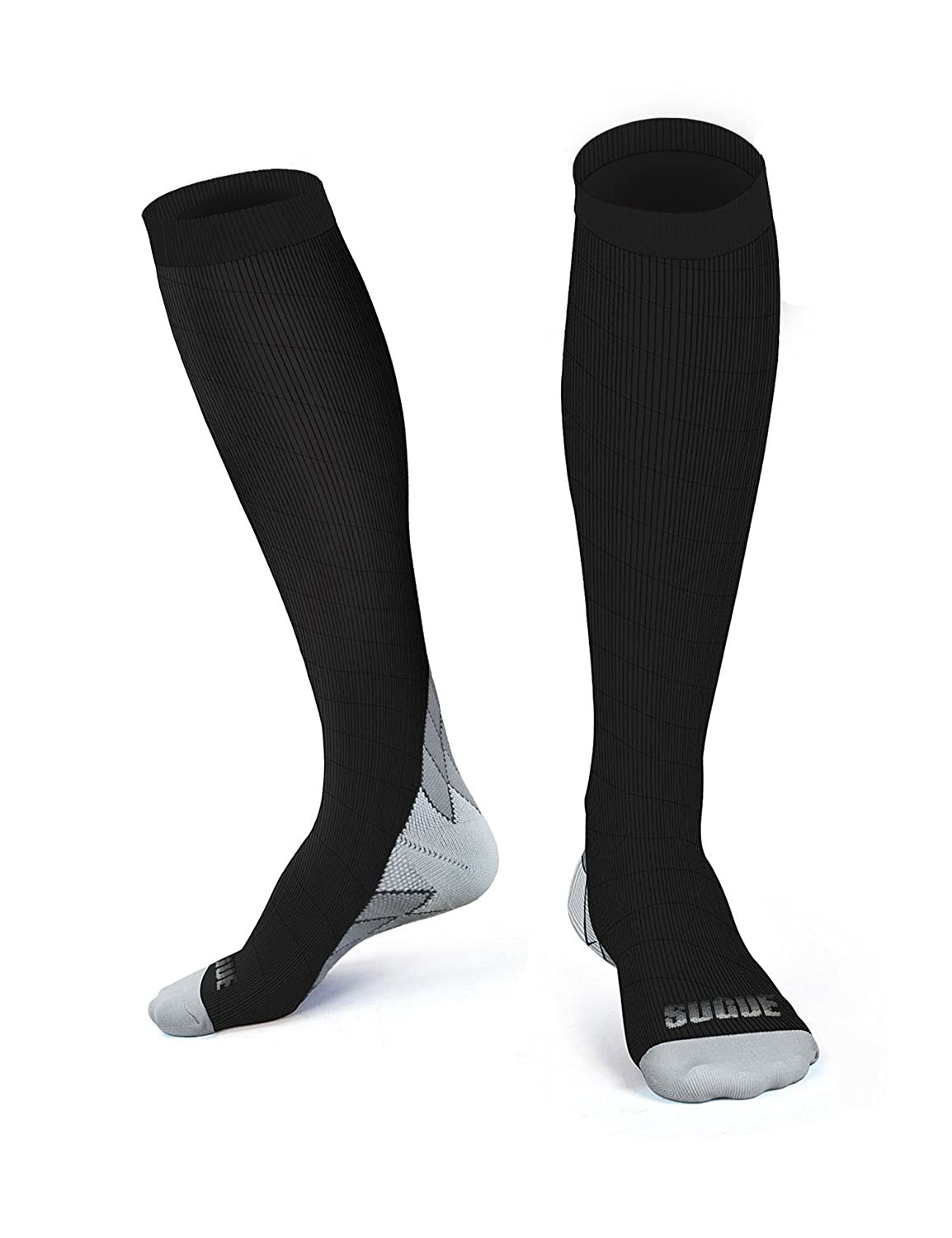 3e51e02a3dad7 SUGUE Compression Socks (1 Pair) 20-30 mmHg for Women & Men - Best ...