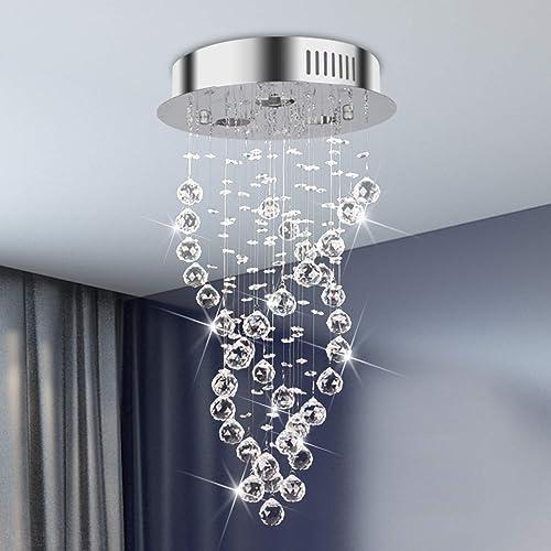 Luxury K9 Crystal Ball Light Fixture