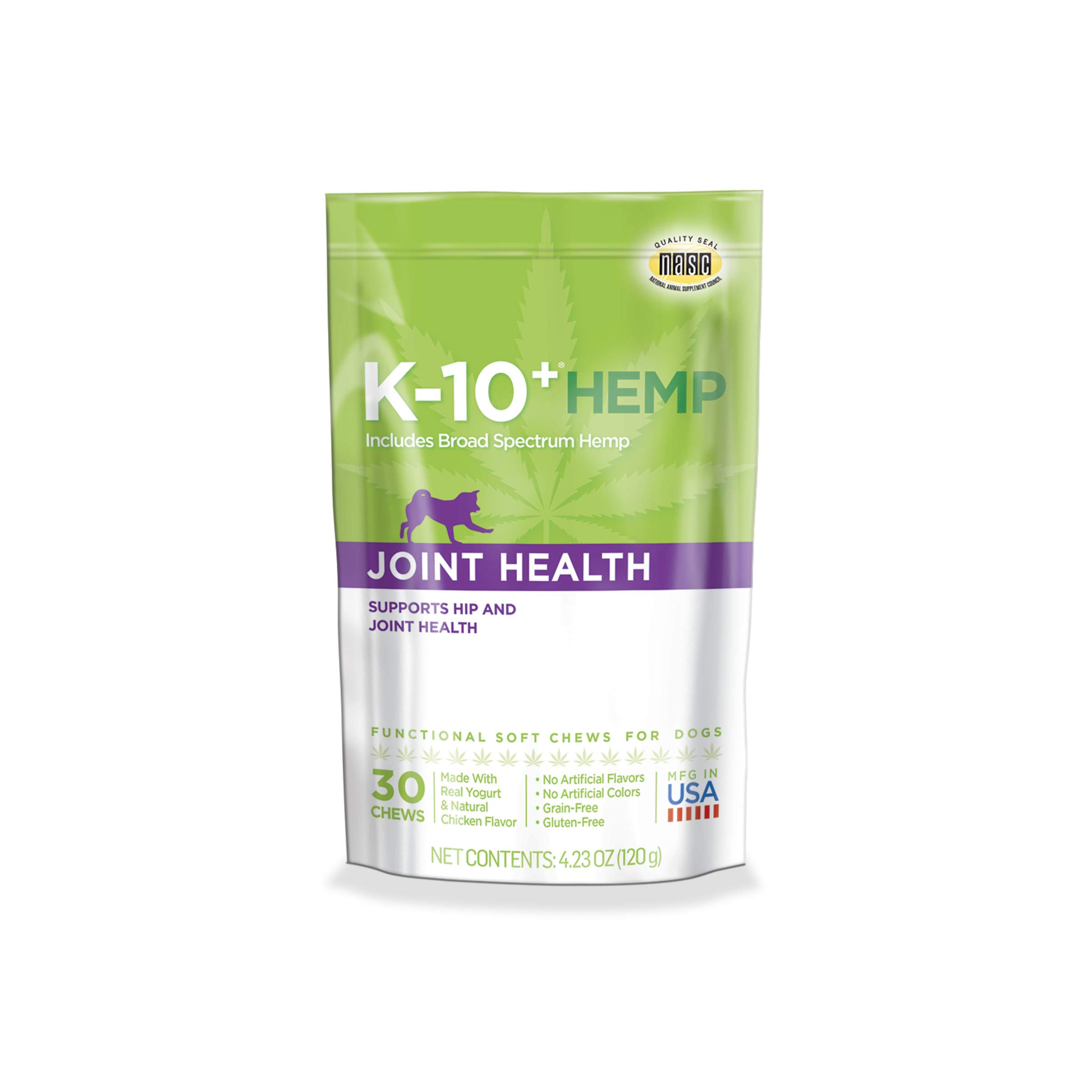 K-10+ Hemp Joint Health Daily Supplement for Dogs - 4.23 oz. Pouch by K-10+