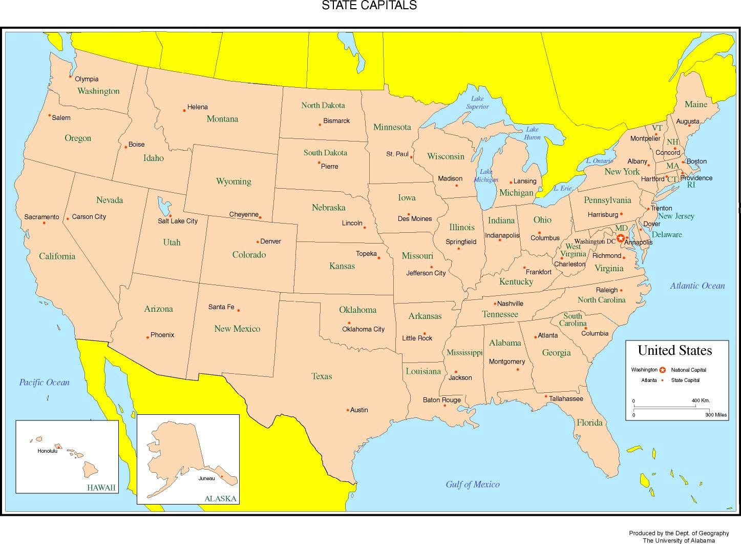 Us Map With States And Capitals Labeled Maps State X Pixels Google ...