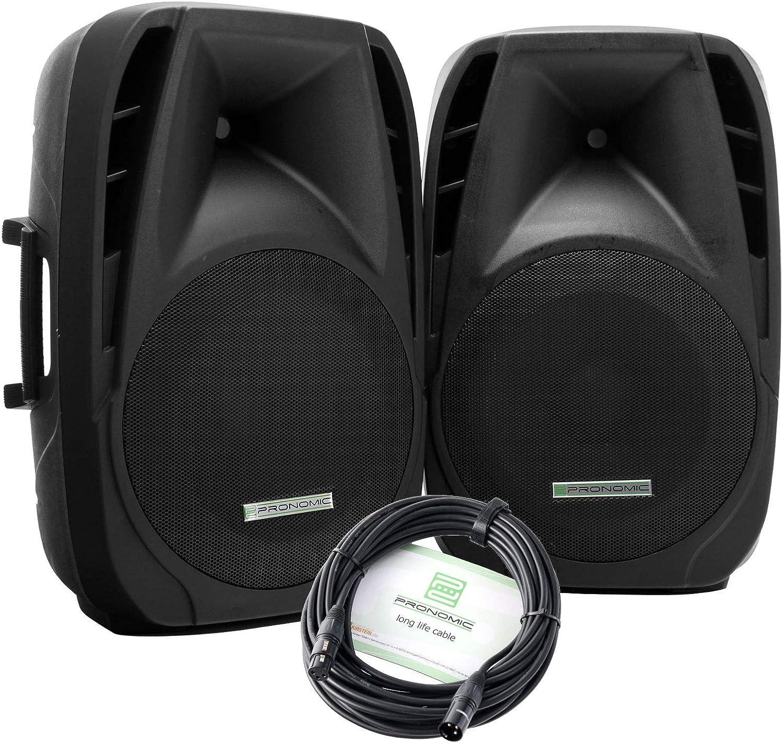 Pronomic PH15 pareja de altavoces activos MP3/Bluetooth 200/350W: Amazon.es: Instrumentos musicales