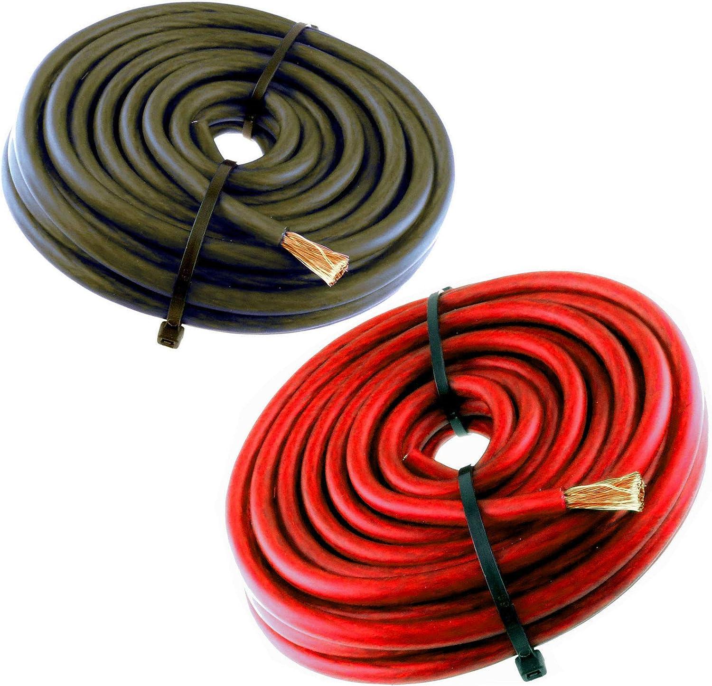 10 Ft Red 8 Gauge Speaker Wire Amp Power Wire Ground Car Audio Flexible Primary