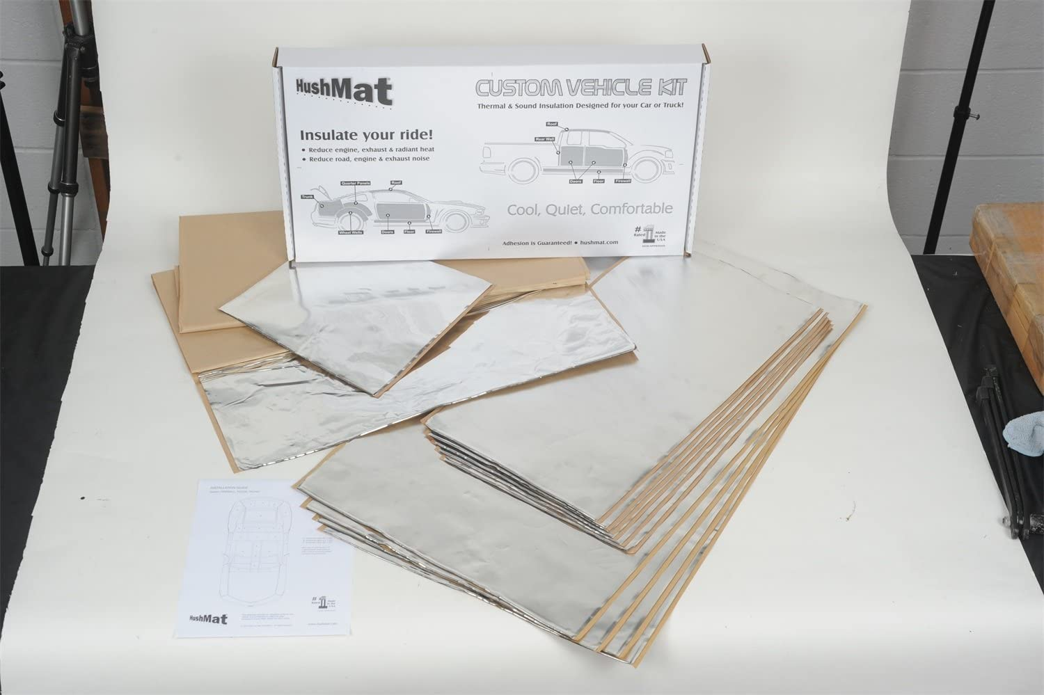 1967-1968 Mustang Roof HushMat 612675 Sound and Thermal Insulation Kit