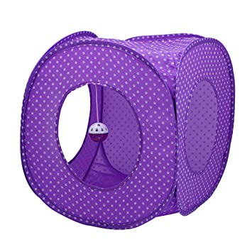 Juguete de gato Casa de perro plegable Cat House Anti-mosquito Purple Tipo de tela Dot Tent. Seguro y no tóxico: Amazon.es: Hogar