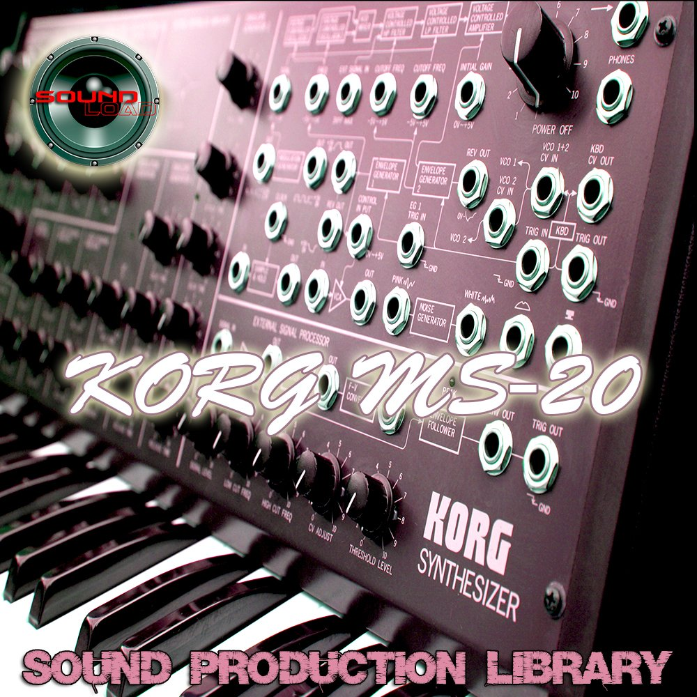 KORG MS20 - HUGE Original Samples Library in WAVE/Kontakt format on DVD or download