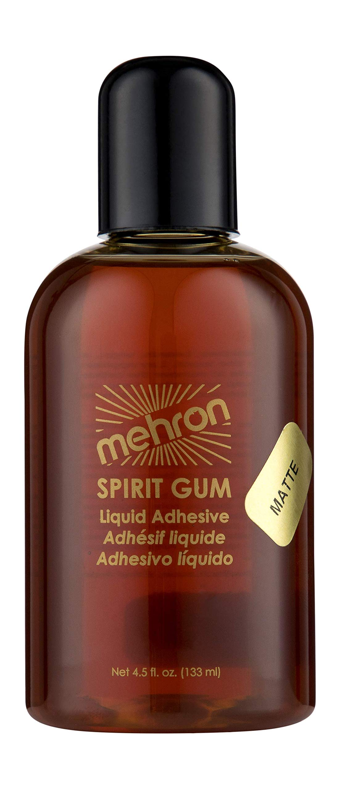 Mehron MATTE Spirit Gum Adhesive - Theatrical Makeup Adhesive (4 Ounce)