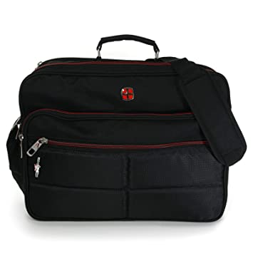 eac4eda256340 XXL Umhängetasche Business Messenger Bag Notebook Tasche Black FLUGBEGLEITER  MESSENGER ARBEITSTASCHE HERRENTASCHE DAMENTASCHE