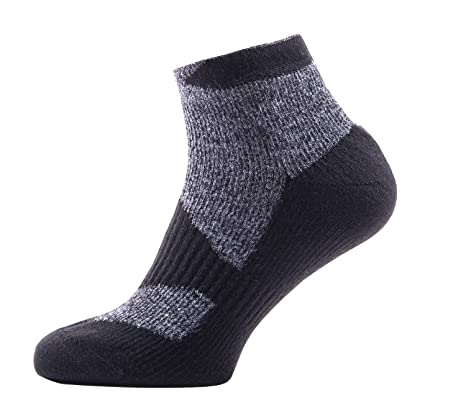 Calcetines de Walking Fina Socklet SealSkinz Hombres, Hombre, Walking Thin Socklet, Dark Grey