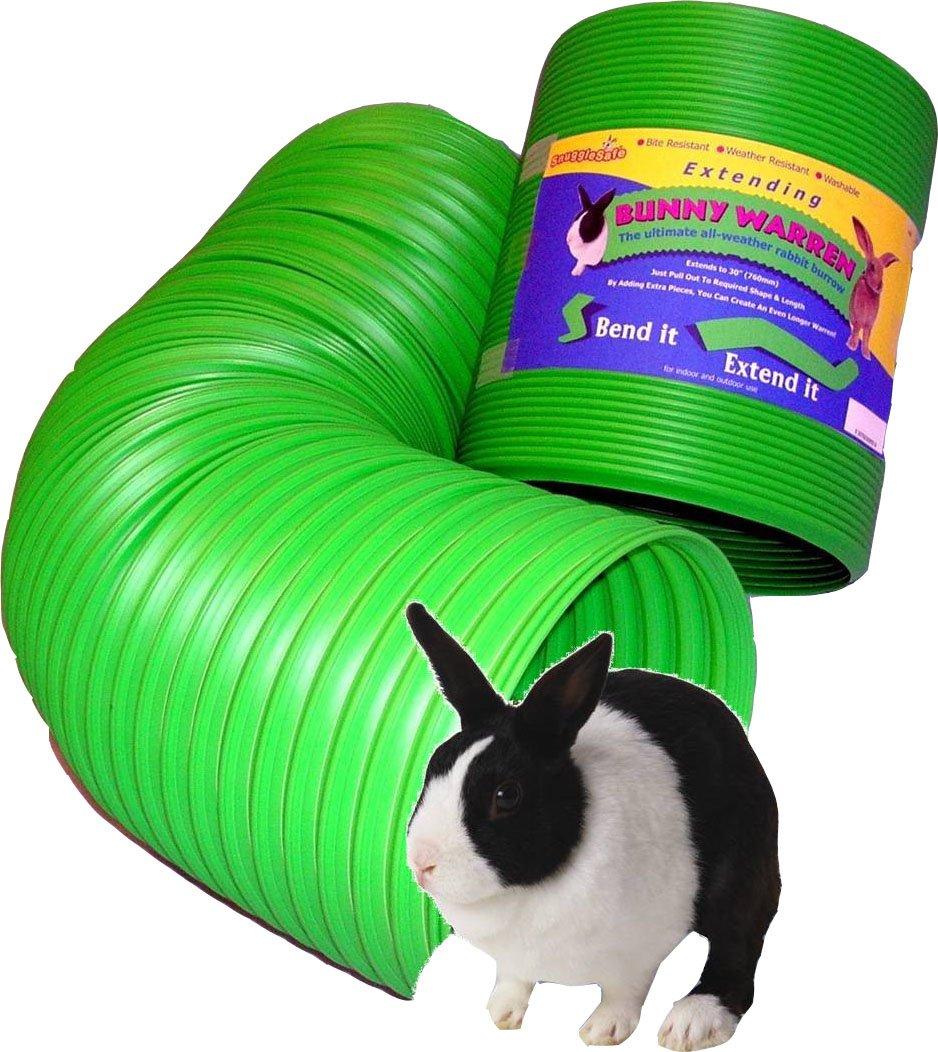Snugglesafe All Weather Flexible Bunny Warren Fun Tunnel, green