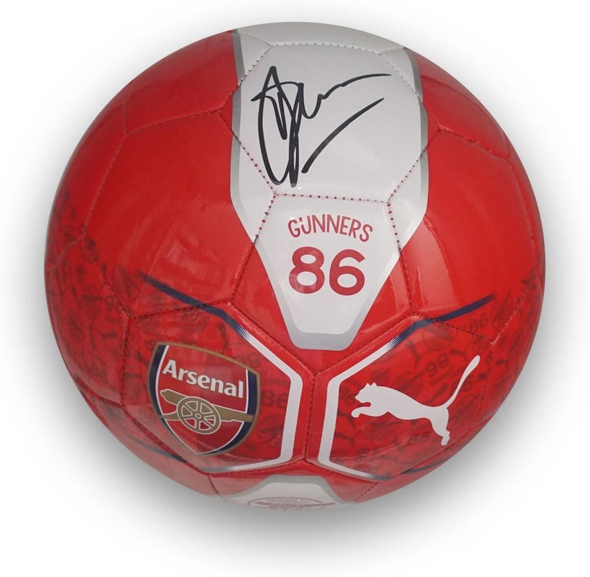 Fútbol del Arsenal firmado por Dennis Bergkamp: Amazon.es: Deportes y aire libre