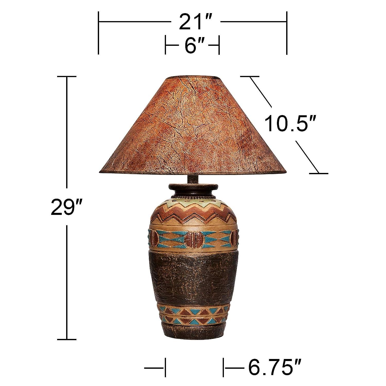 Amazon.com: Wild West Handcrafted Southwest lámpara de mesa ...