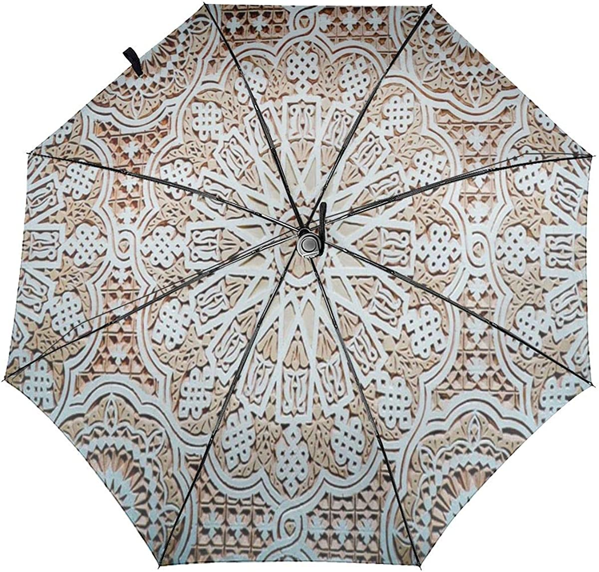 Mancharo Stucco Ceiling Compact Travel Umbrella Windproof Reinforced Canopy 8 Ribs Umbrella Auto Open And Close Button Customized