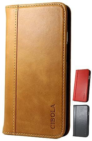 75ad49b778 Amazon | CIBOLA 高級牛革 iPhone 8 Plus iPhone7 Plus ケース 手帳型 本 ...