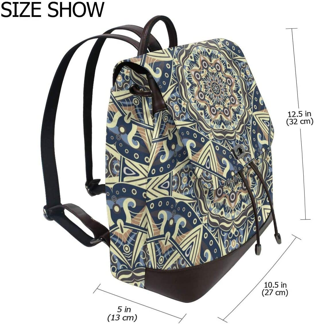 Outdoor Bag And Schoolbag Oximing Islamic Ornament Vector Persian Motiff Round Pattern Elements Womens Leather Shoulder Bag