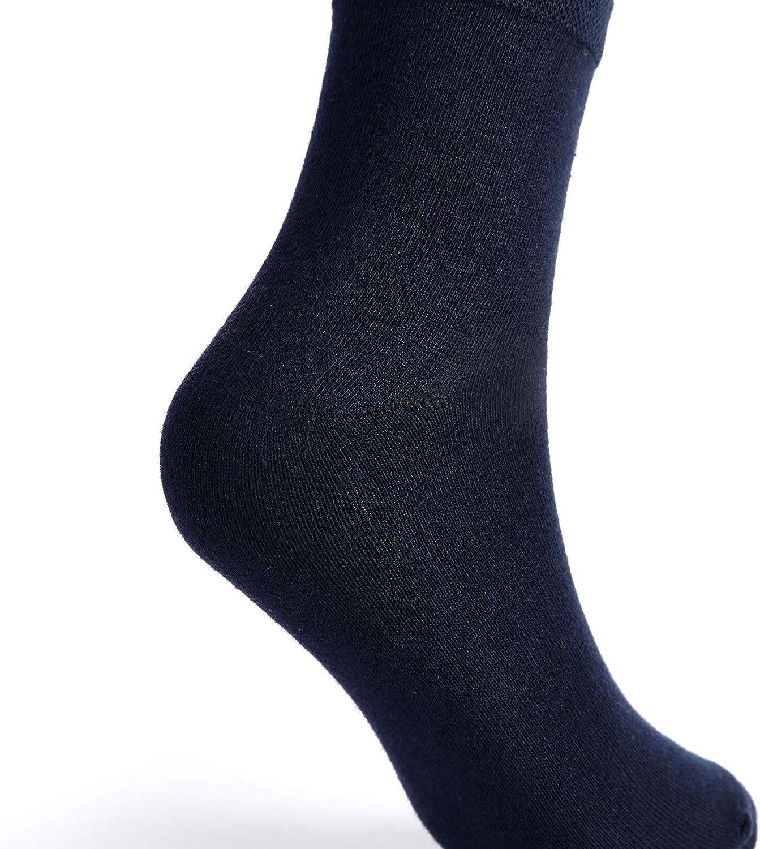 , 6 pezzi MIUMOY Calzini donna uomo in cotone nero