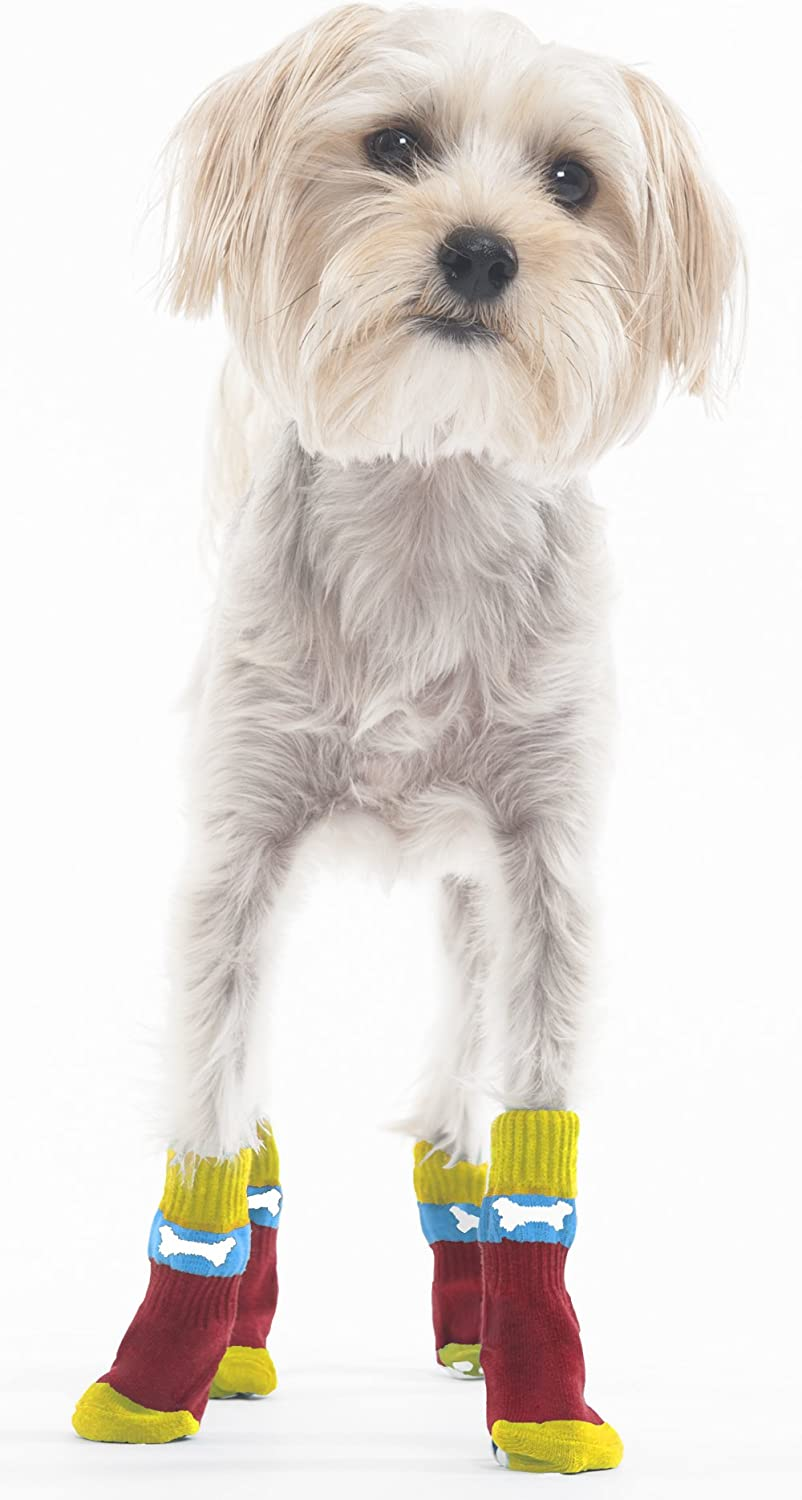Snazzy Socks for Dogs M L Silica gel bottom S Perfect indoor footwear