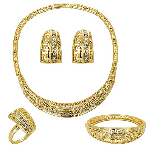 a1230adc01e Amazon.com: JISON Gold Plated Wedding Jewelry Sets for Women ...