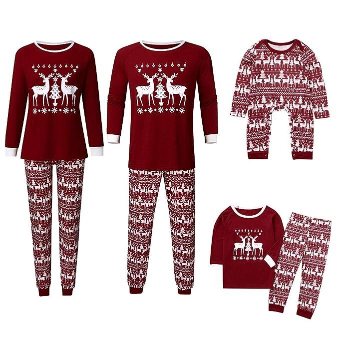 LUNULE Pijamas Dos Piezas Familiares de Navidad, Familiares Juego ...