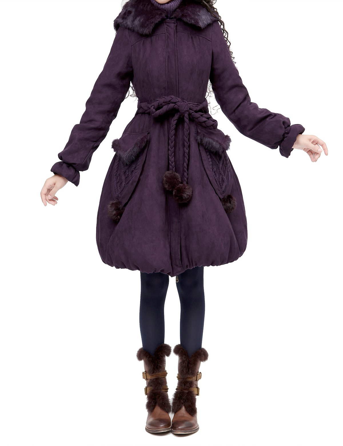 Artka Women's Vintage Casual Long Quilted Parkas Winter Coat with Hood Size L by Artka (Image #2)