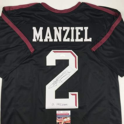pretty nice 5d931 00095 Autographed/Signed Johnny Manziel 12 Heisman Texas A&M Black ...