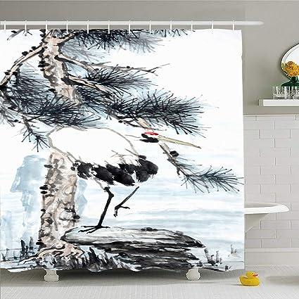Amazon com: Ahawoso Shower Curtain 72x72 Inches Green