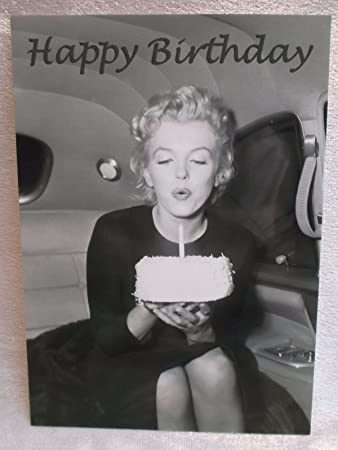 Happy Birthday Marilyn Monroe Postcard 15 Cm Film Music Quilt Card