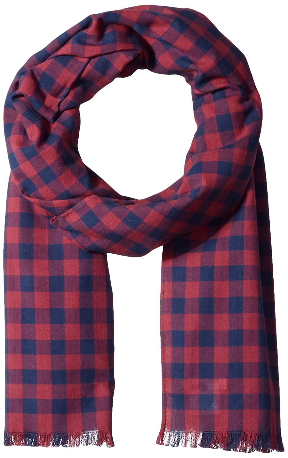 Original Penguin Men's Woven Gingham Scarf POMEGRNATATE OSFA PNH0685