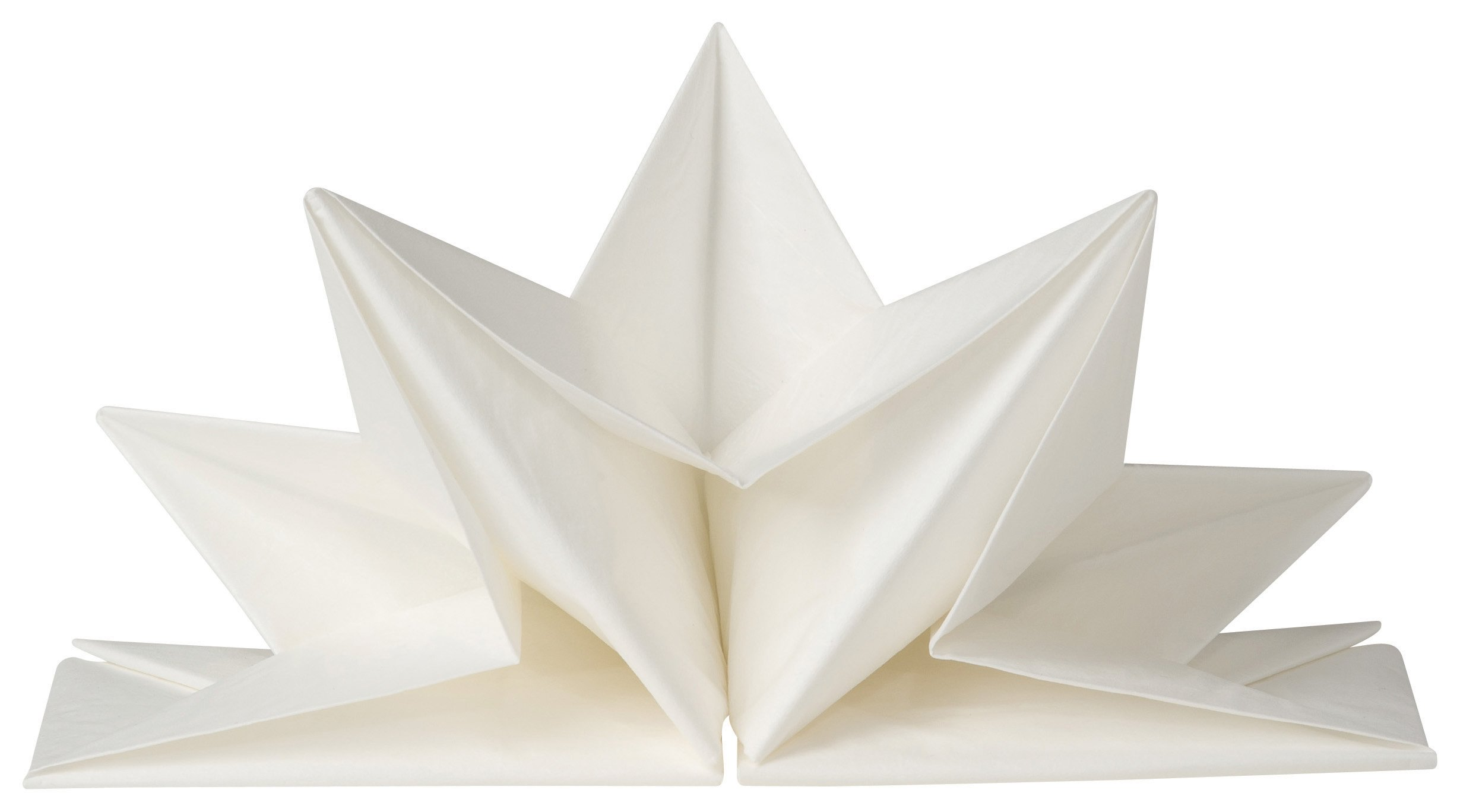 Now Designs Origami Paper Napkins, White