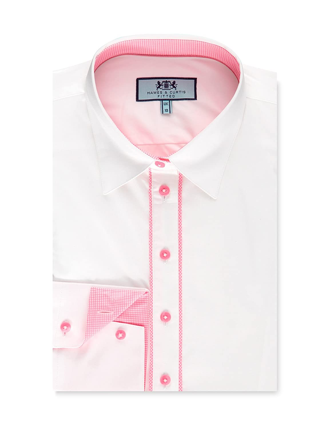 e29979a6 Top7: HAWES & CURTIS Womens White Fitted Shirt With Contrast Detail -  Single Cuff
