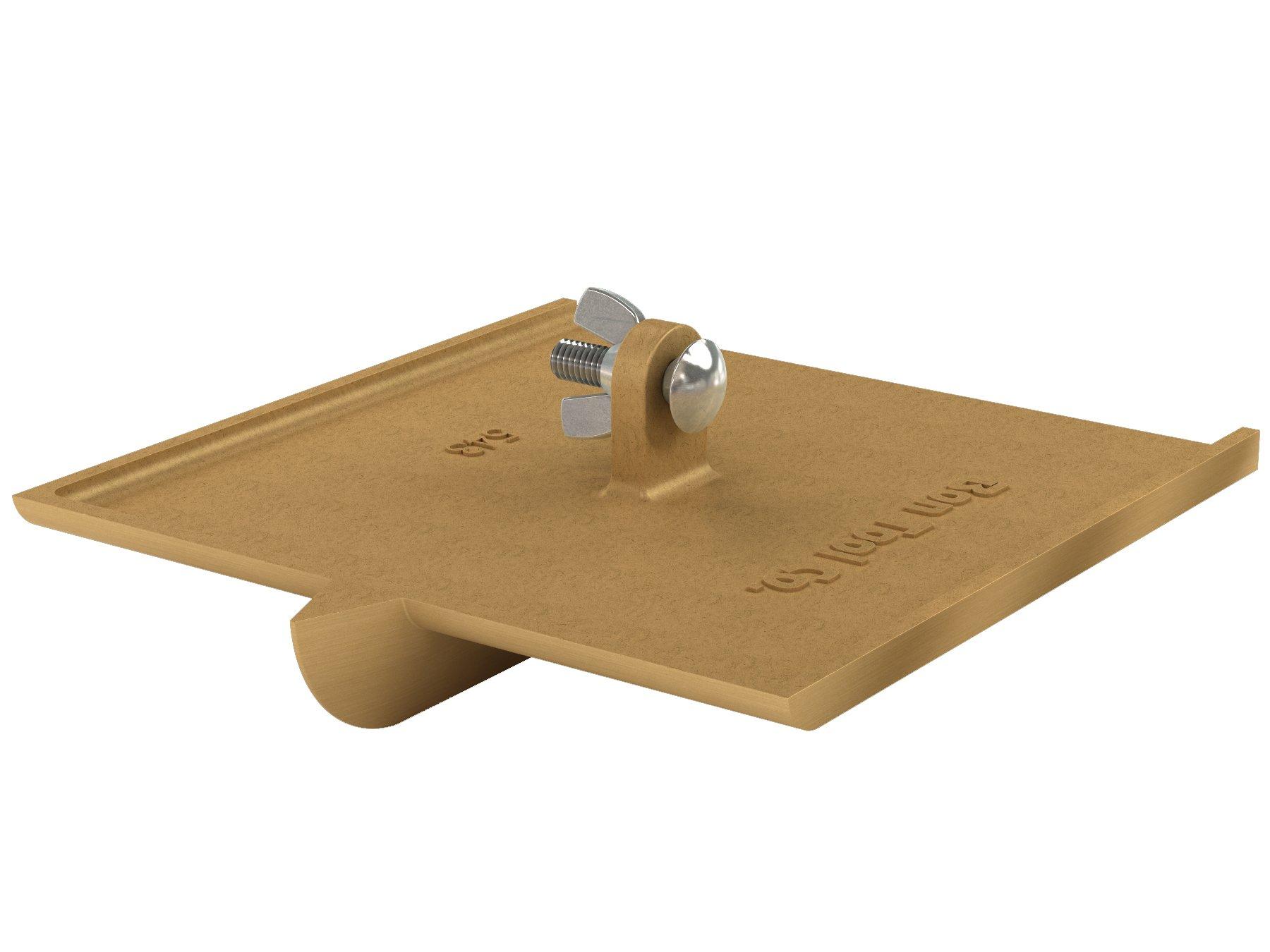 Bon 12-543 1-Inch Bit Depth by 3/8-Inch Width 8-Inch by 8-Inch Walking Concrete Groover, Bronze