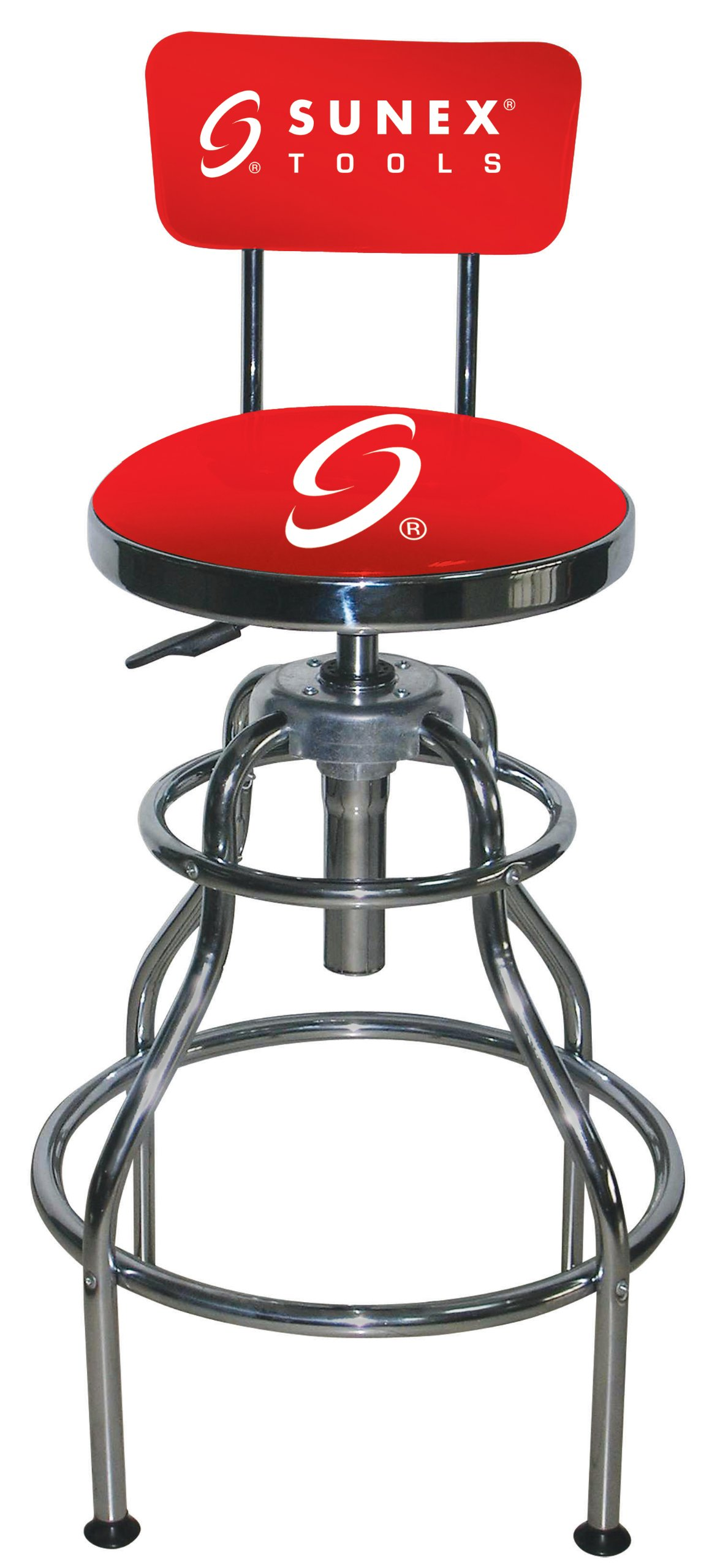 Sunex 8516 Hydraulic Shop Stool, Chrome by Sunex Tools