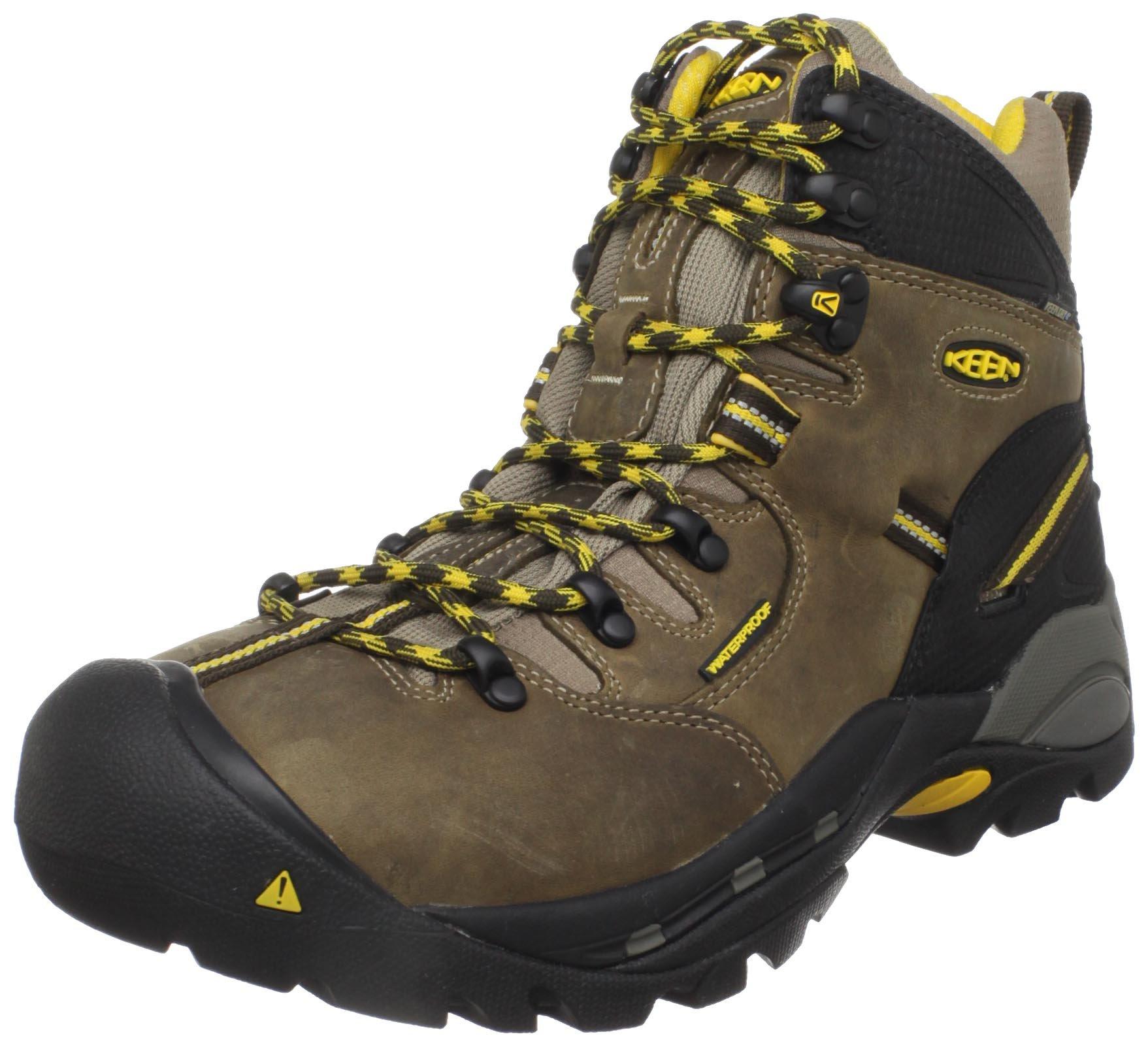 KEEN Utility Men's Pittsburgh Steel Toe Work Boot,Slate Black,10 D  US