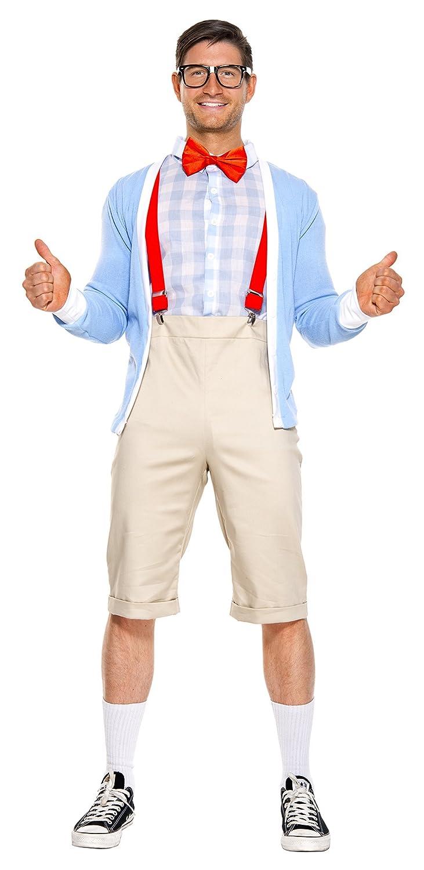 f7929c7f3d59 Amazon.com: Music Legs Men's Nifty Nerd Costume, Sexy Men's Nifty Nerd  Costume: Clothing