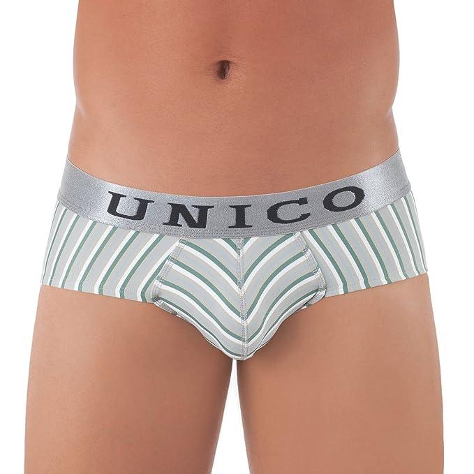 Unico Carta/Slip Quasar Ropa Interior para Hombres Grün und Grau Small