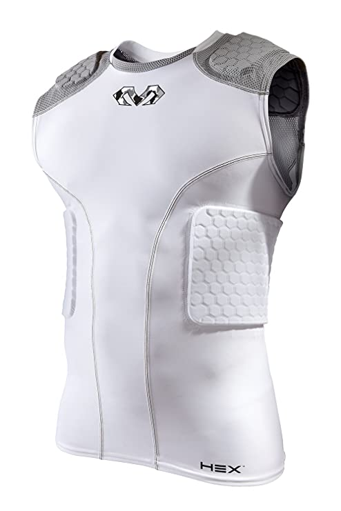 3e143c99 Amazon.com : McDavid Youth Hex 5-Pad Sleeveless Shirt, White/Grey ...