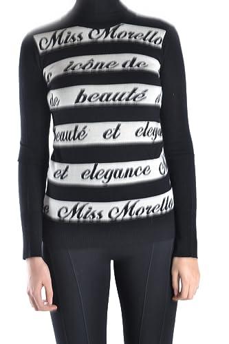 Frankie Morello Mujer MCBI125011O Blanco/Negro Lana Suéter