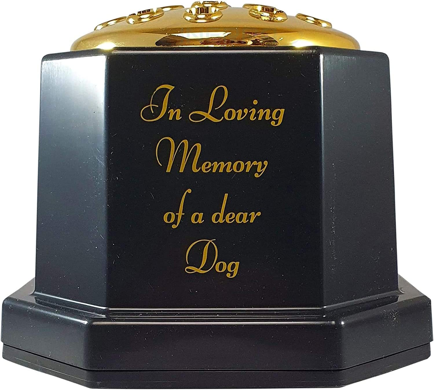 Daughter INERRA Memorial Grave Vase Black with Gold Lid Heavy /& Sturdy Pot for Graveside Flower Arrangements