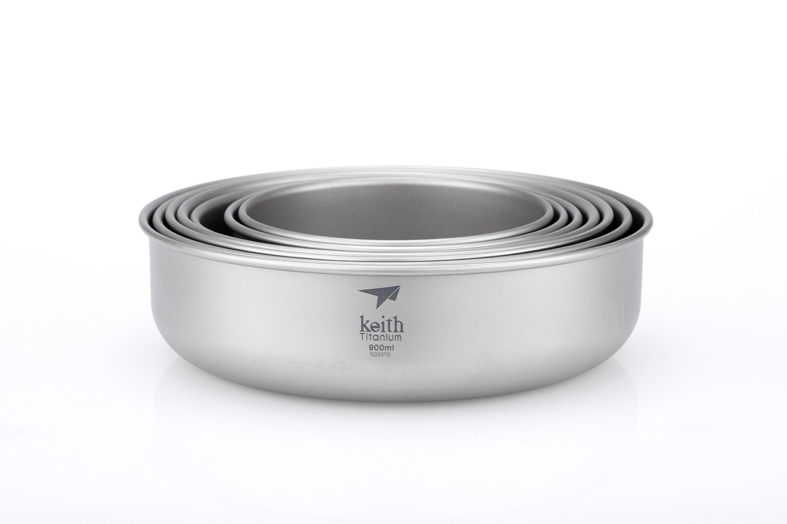 Keith Titanium Ti5375 7-Piece Bowl Set by Keith Titanium